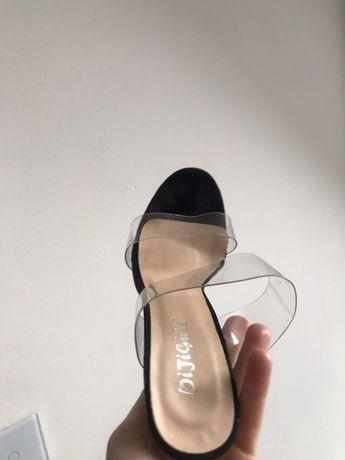Buty vinylowe plastikowe przeźroczyste transparentne r. 38