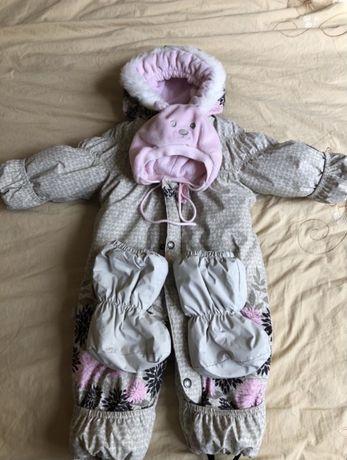 Lenne зимний детский комбинезон шапка и пинетки в подарок! Лене