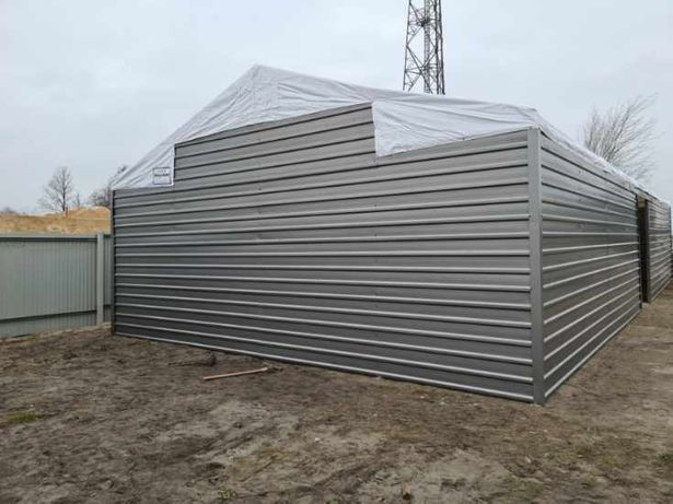 Hala namiotowa 6x18x3 Ściana blaszana