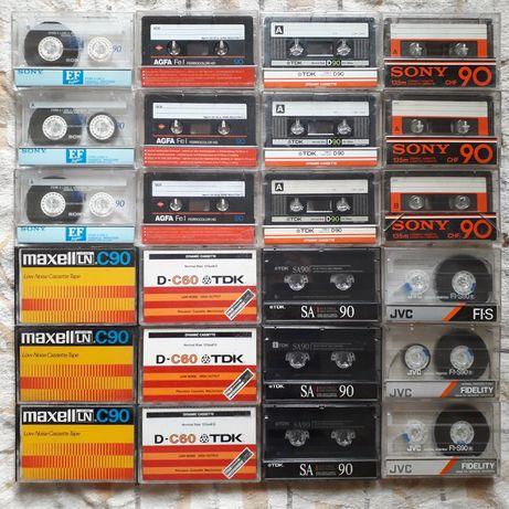 Аудиокассеты Denon, Maxell, Sony, Basf, JVC, TDK, SANA