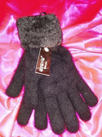 tylko do 30 czerwca! rękawiczki ciepłe grube miłe NOWE UNi czarne