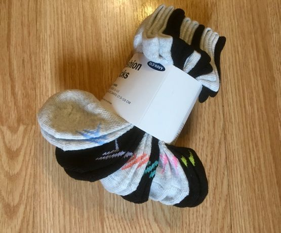 Короткие носки, носочки для девочки Old Navy, комплект 6 пар, р.27-30