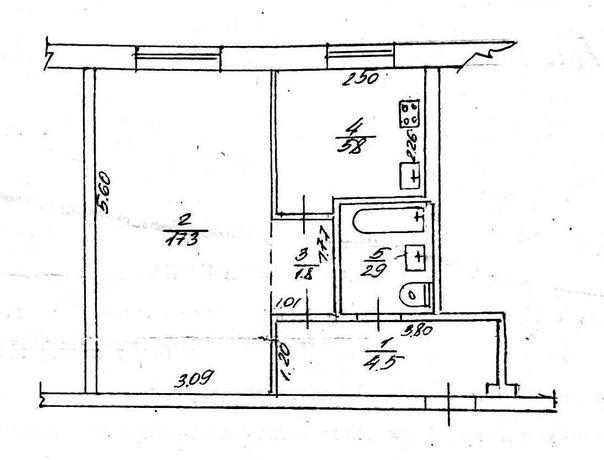 Продам 1 кімнатну квартирув районі Чорновола – проспект Хіміків