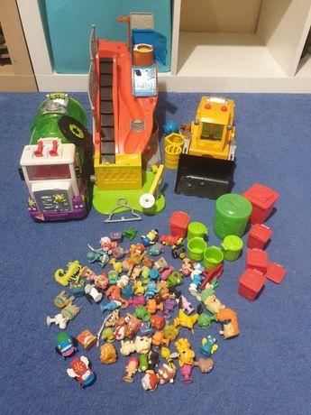 Śmieciaki-ogromy zestaw. 2 pojazdy i śmieciakowy kanał. Figurki.