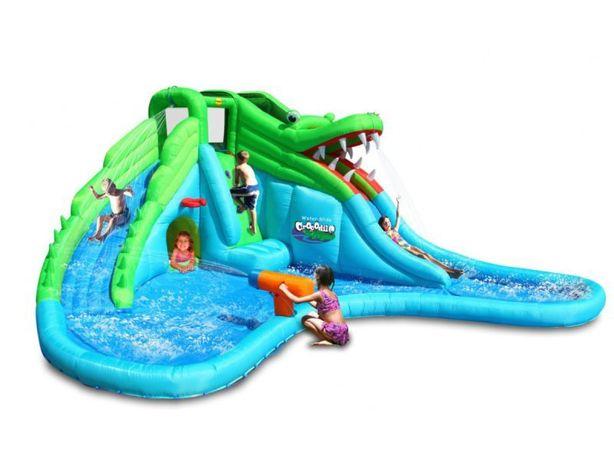 Wielki dmuchany plac zabaw Dmuchana zjeżdżalnia wodna zamek krokodyl