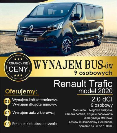 Wynajem Bus 9 Osobowy Renault Trafic 2020r long
