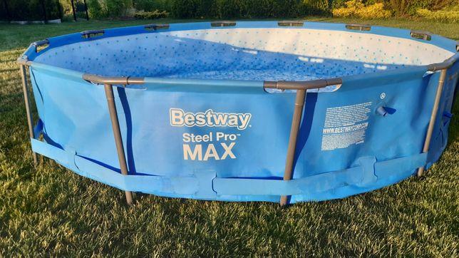 Basen Bestway Max 366x76 + nowa mocna pompa