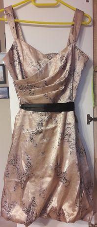 Sukienka De Facto złota beżowa elegancka 38 M