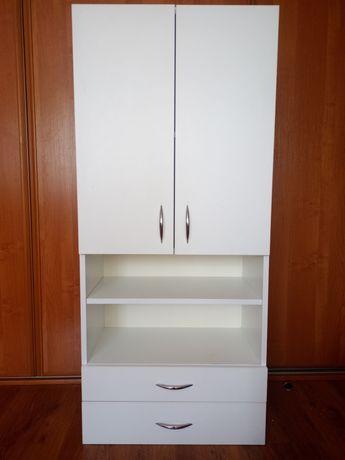 Szafka biała łazienkowa z szufladami pojemna