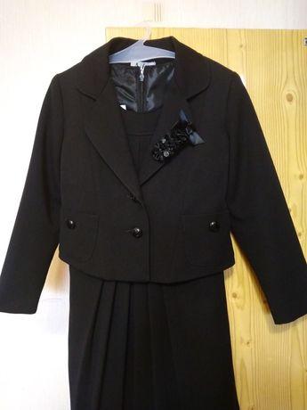 Школьная форма 122-128 7-8 лет черный цвет Сарафан школьный Пиджак