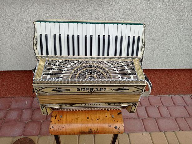 Akordeon Soprano Napoli 120 3-chóry basy 5-chórowe
