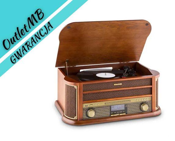 Wieża stereo retro magnetofon Gramofon radio DAB+ Bluetooth 170507