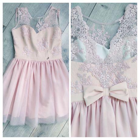 Śliczna sukienka z tiulem