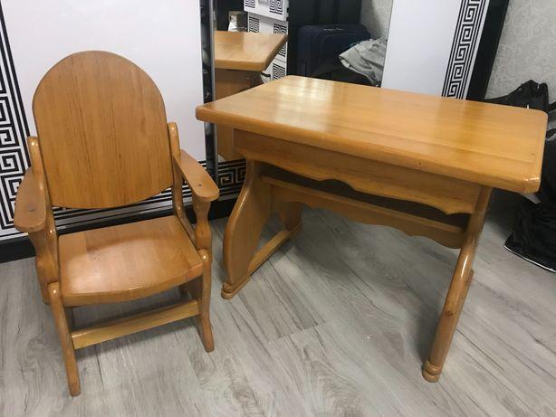 Стіл і стульчик дитячий з дерева (вільха)