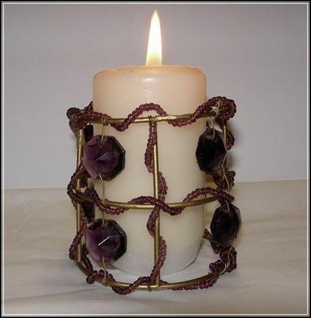 Stary kolekcjonerski świecznik / nakładka na świeczkę