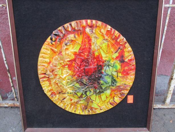 Obraz, płaskorzeźba, ceramika, design