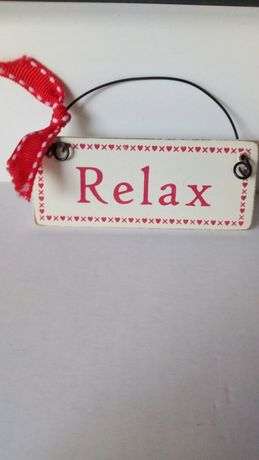 Tabliczka drewniana zawieszka relax vintage