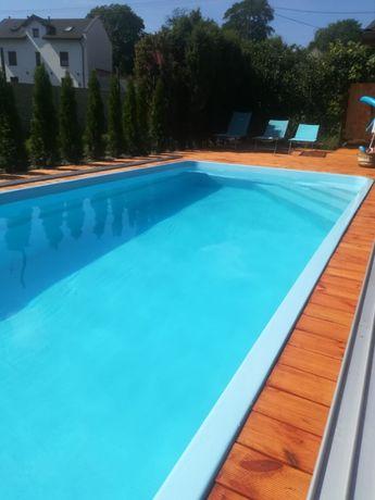Basen ogrodowy kąpielowy poliestrowy gotowy Zestaw 7x3,2 PRODUCENT