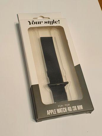 Opaska bransoleta stal nierdzewna do Apple Watch 40/38mm czarny czarna