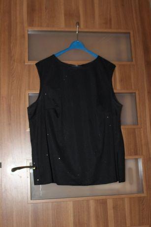 DUŻY ROZMIAR WIECZOROWY komplet:bluzka+spódnica maxi+narzutka JAK NOWY