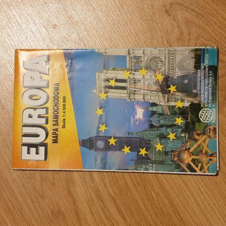Mapa samochodowa Europy z 1998