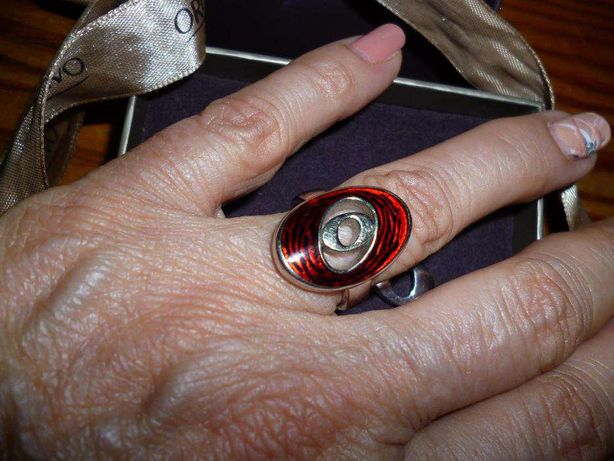 pedente e anel medida 12 Borelli da ORO VIVO em prata e esmalte
