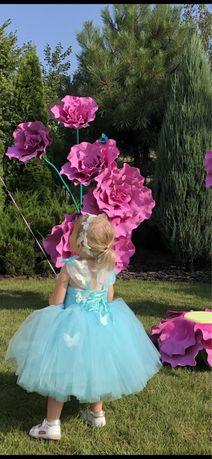Нарядное платье мятного цвета на 86-92 см