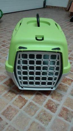Caixa transporte + trela para cão