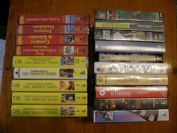 Cassetes Video VHS - Documentários National Geographic, Edivideo, etc.
