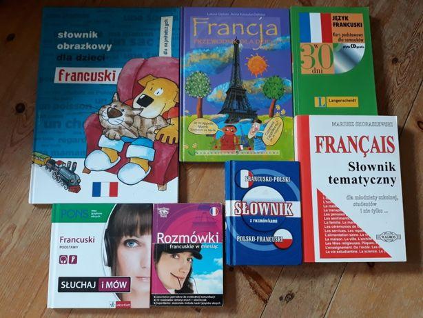 Zestaw książek do nauki języka francuskiego