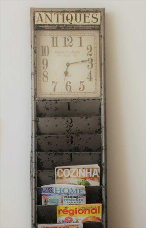Relógio antigo a funcionar na perfeição