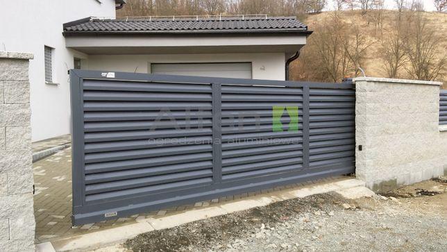 Ogrodzenie Aluminiowe Brama Przesuwna wjazdowa na wymiar Alfen N01 HIT