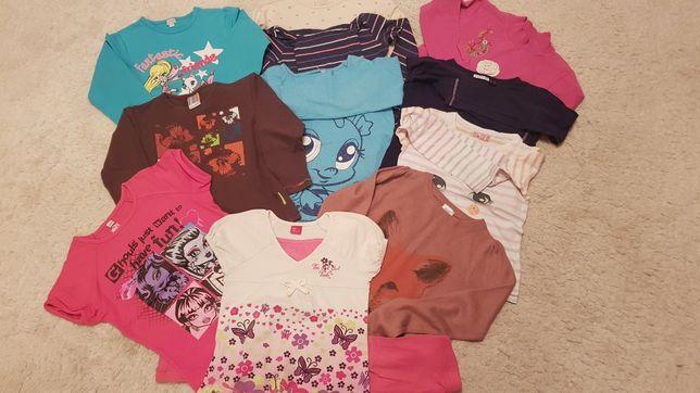 Paka zestaw markowych ubrań dla dziewczynki 122-128