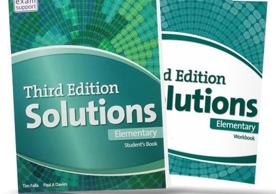 Solution (Elementary 3d edition) английский учебник и рабочая тетрадь