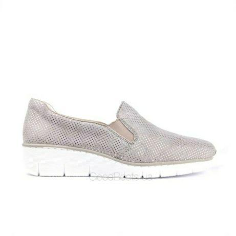 Фирменные туфли балетки мокасины Rieker