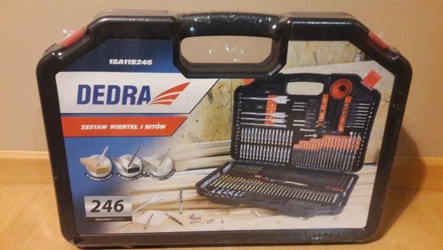 Zestaw wiertełi i bitów Dedra 246 sztuk - nowy okazja
