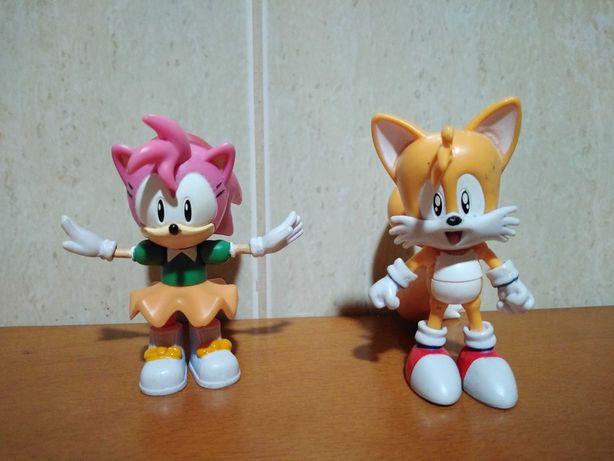 Sonic the Hedgehog Jazwares - Classic Tails & Amy figuras