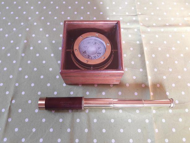 Kompas drewno, luneta 25x30mm JAPAN