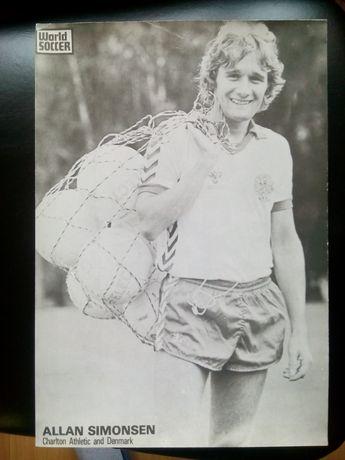 Piłka nożna Dania A. Simonsen 1983 r. Klub Charlton Athletic. 20 zł.