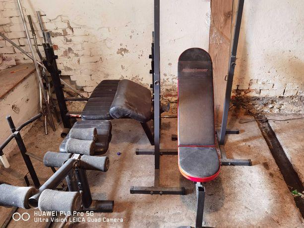 Kompletna siłownia 406kg 2 ławki