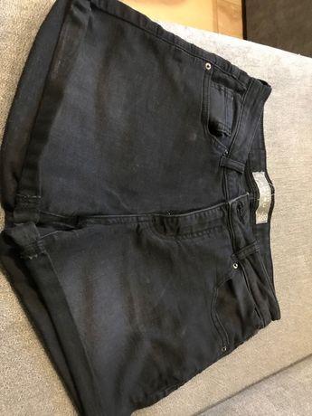 Krótkie spodenki jeans Amisu r.38 czarne