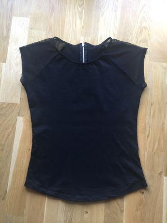 bluzka czarna rozmiar 36 siateczka rękawki