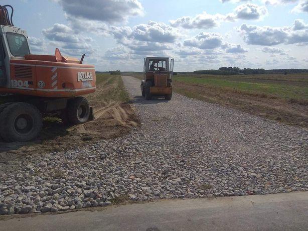 Kruszywo drogowe, betonowe, ceglane, kamień polny naturalny kruszony