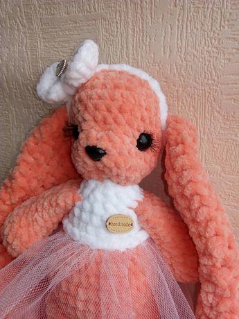 Плюшевий зайчик зайка заяц іграшка игрушка