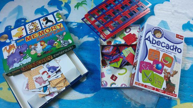 Memory i Abecadło gry dla dzieci nauka