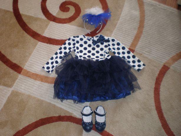 Платье + туфельки для девочки к-т.