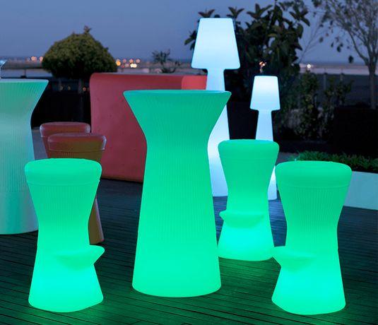 Mesas com luz led para loja