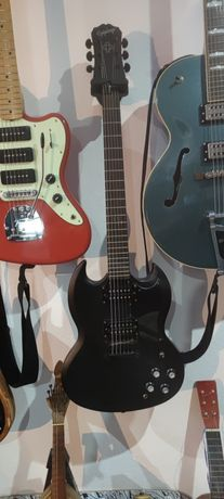 Epiphone SG goth XII guitarra eléctrica double cut