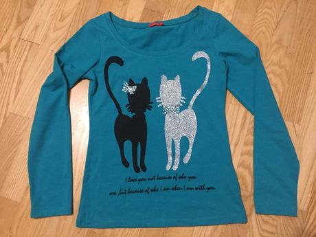 Bluzka, bluzeczka, cudna r. 164,koty