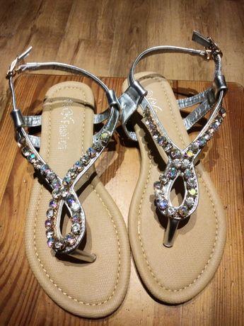 Piękne sandały sandałki japonki rozmiar 36
